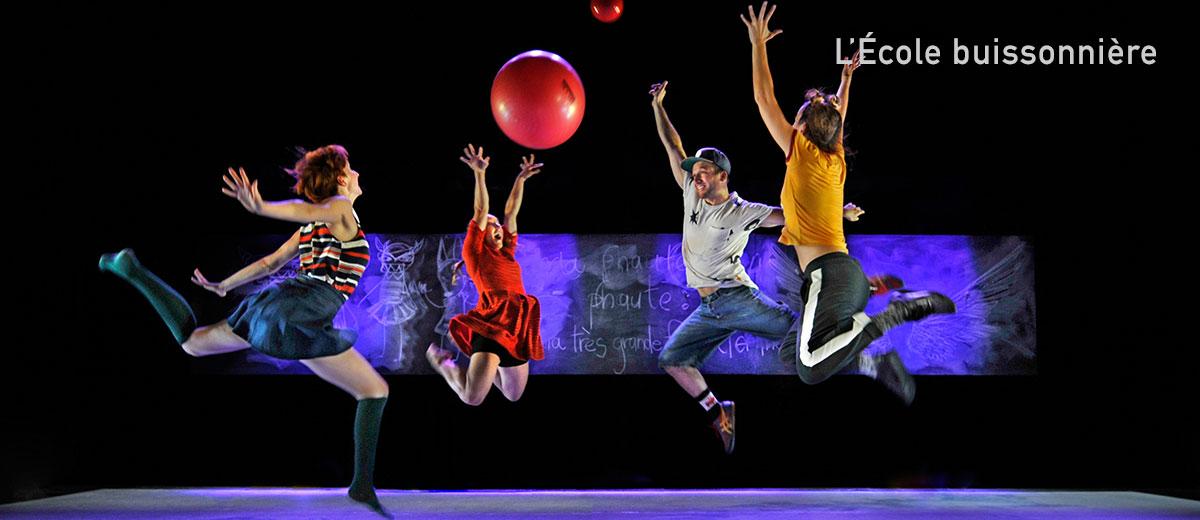 PPS Danse - L'École buissonnière - Améle Rajotte, Mathilde Addy-Laird, Chantal Baudouin, Dany Desjardins - © Rolline Laporte